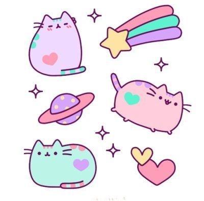 Милые картинки котики для срисовки (13)