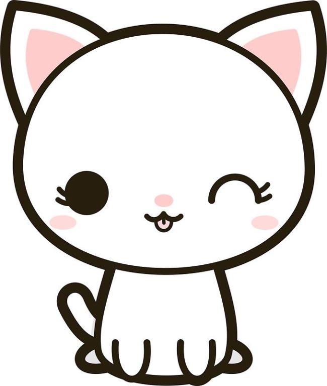 Милые картинки котики для срисовки (17)