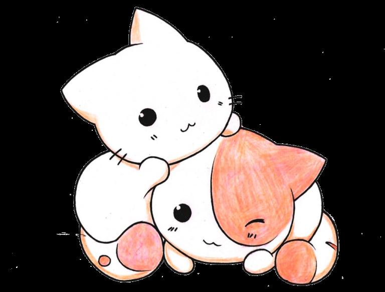 Милые картинки котики для срисовки (2)