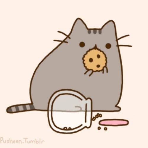 Милые картинки котики для срисовки (21)
