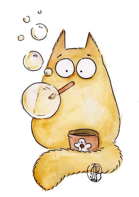 Милые картинки котики для срисовки (3)