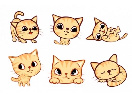 Милые картинки котики для срисовки (4)