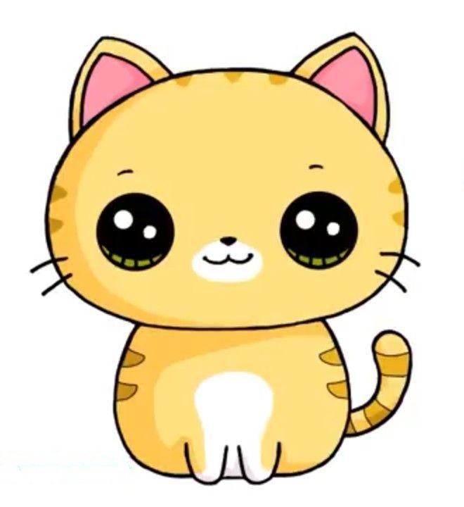 Милые картинки котики для срисовки (5)