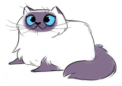 Милые картинки котики для срисовки (8)