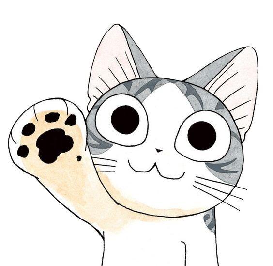 Милые картинки котики для срисовки (9)