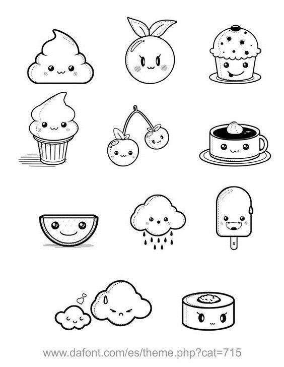 Милые простые рисунки для срисовки 012