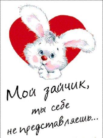 Мой зайчик любимый   картинки, открытки 001