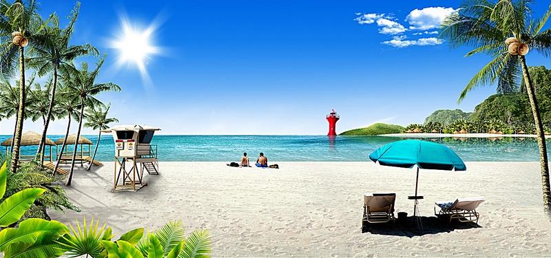 Море пальмы и песок фото и картинки015