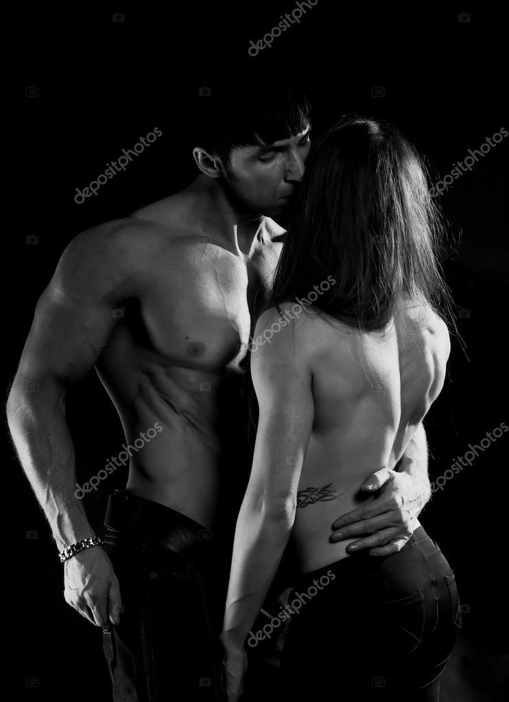 Мужчина и женщина страсть   фото черно белые (28)