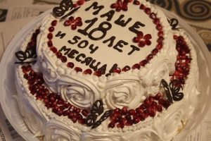 Надпись с днем рождения на торте маме   фото 028
