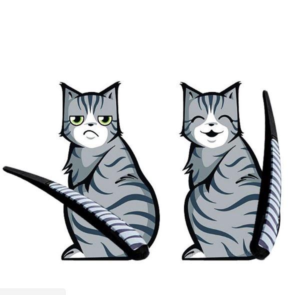 Наклейка на заднее стекло и дворник кот016