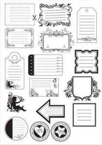 Наклейки для лд черно белые для распечатки   подборка 019