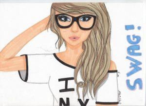 Нарисованные девушки на аву в стиле swag   картинки (5)