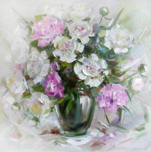 Нарисованные красивые цветы фото 028