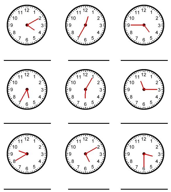Дедушкам февраля, картинки часов для изучения времени