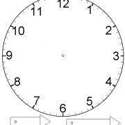 Нарисованные часы картинки для детей 028