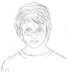 Нарисованный Гарри Поттер карандашом   картинки 022