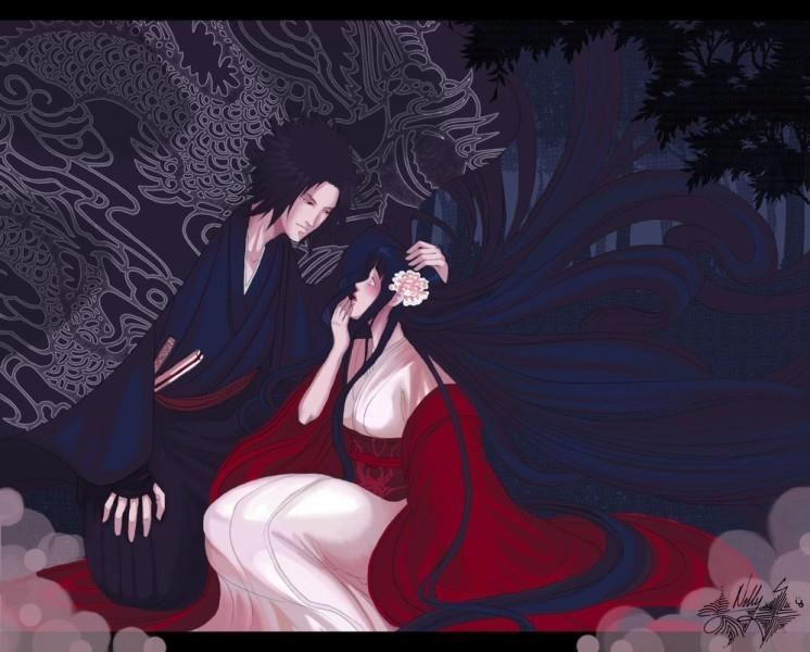 Наруто и Неджи картинки арты красивые010