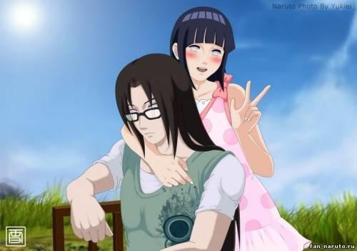 Наруто и Неджи картинки арты красивые015