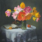 Натюрморт с тюльпанами   красивые картинки020