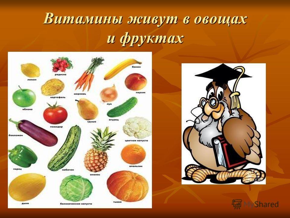 Витамины в картинках для детей