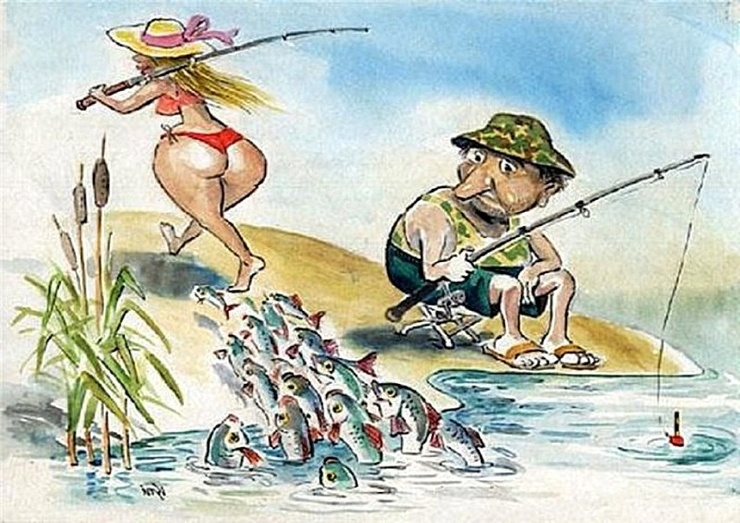Днем, картинки приколы на рыбалке