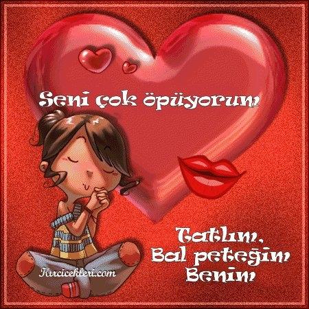 Открытки я тебя люблю на турецком языке