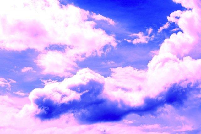 Небо с облаками розовыми   фото и картинки 013