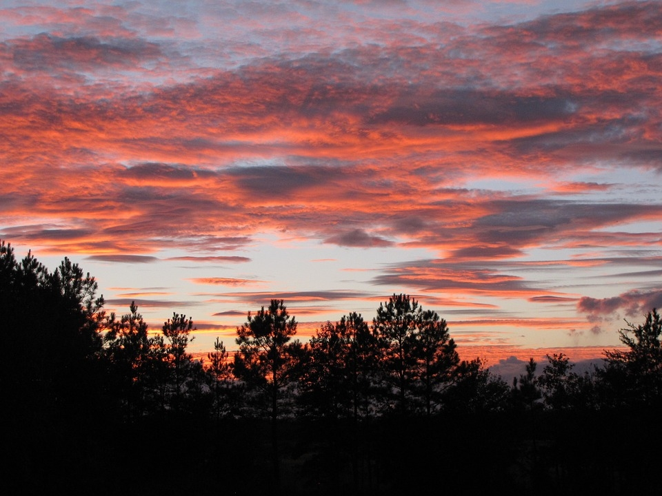 Небо с облаками розовыми   фото и картинки 016