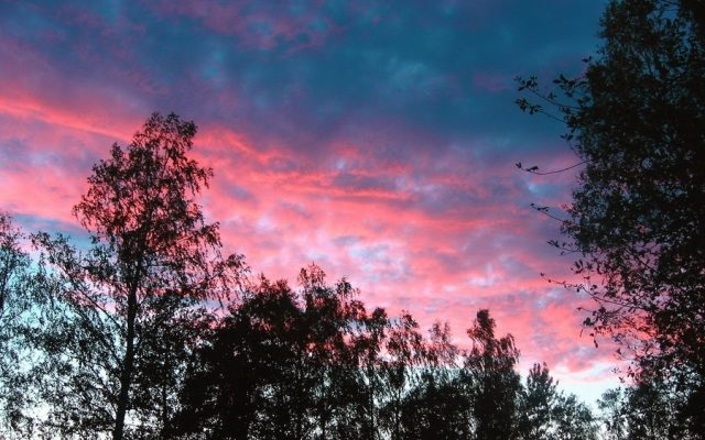 Небо с облаками розовыми   фото и картинки 017