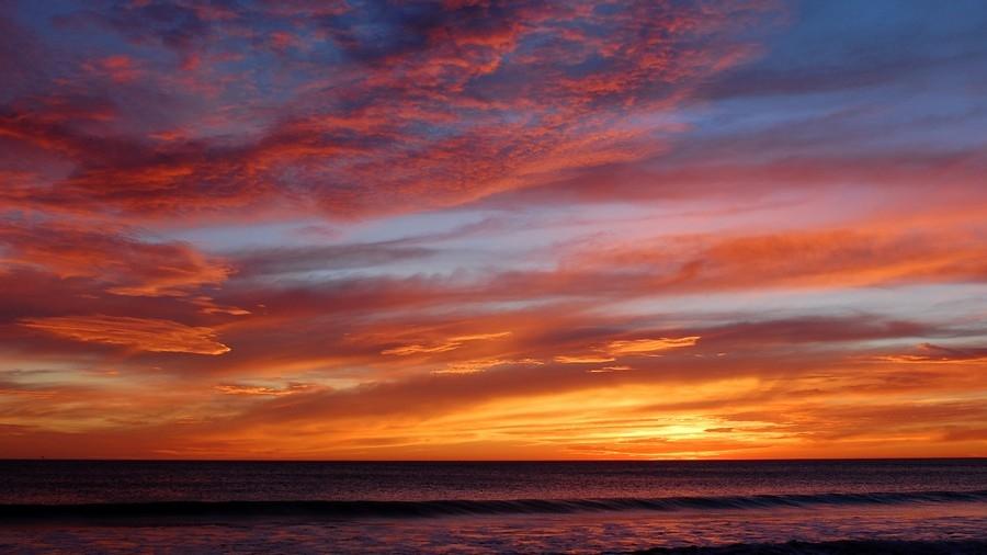 Небо с облаками розовыми   фото и картинки 019
