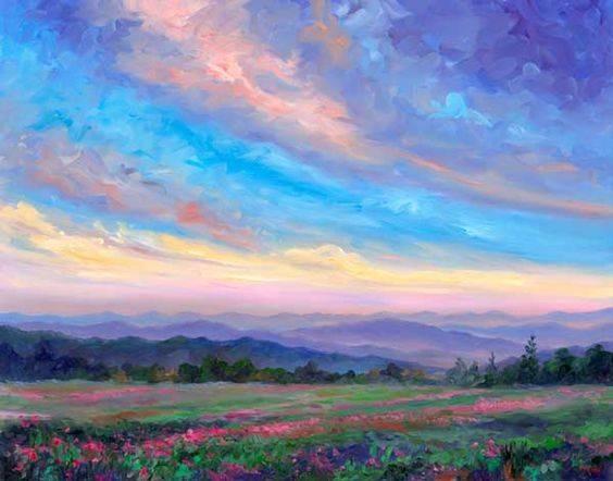 Небо с облаками розовыми   фото и картинки 021