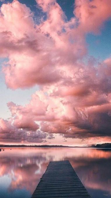 Небо с облаками розовыми   фото и картинки 022