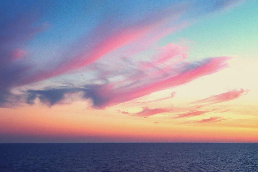 Небо с облаками розовыми   фото и картинки 023