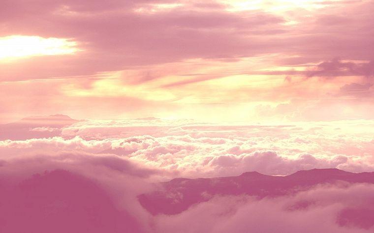 Небо с облаками розовыми   фото и картинки 026