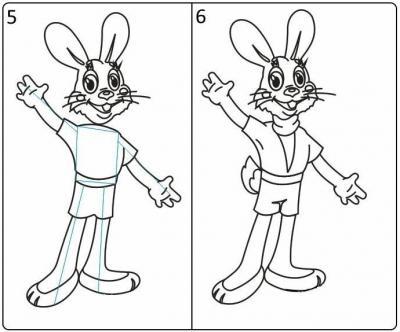 Ну погоди, как нарисовать зайца и волка   рисунки (1)