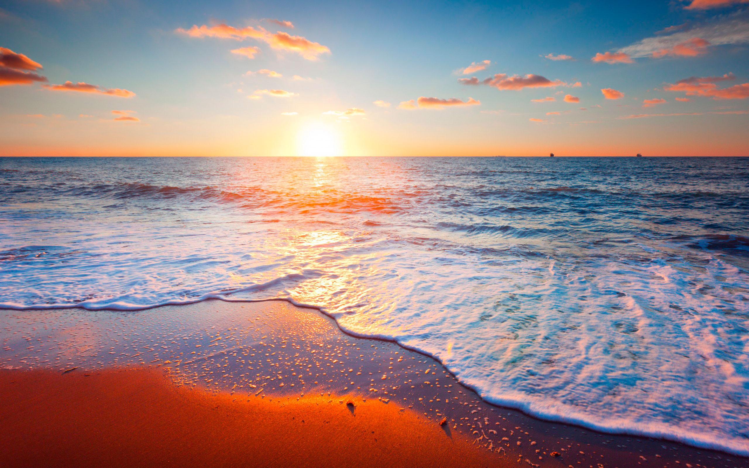 Море закат картинки для рабочего стола