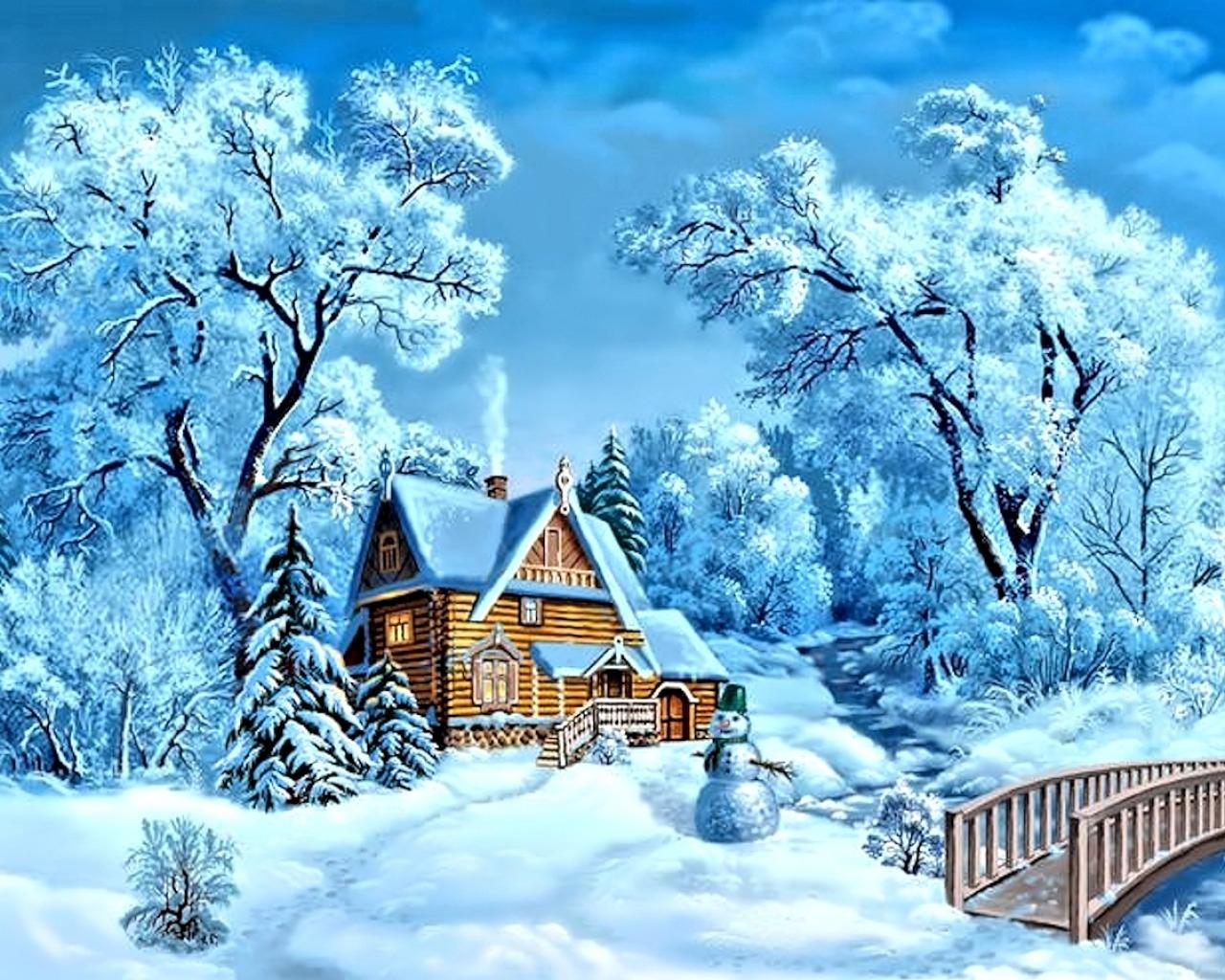 Обои на рабочий стол зима и новый год (2)