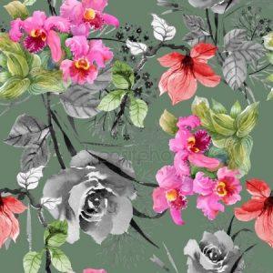 Однотонный фон с цветами   лучшие картинки 029