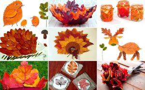 Осенний рисунок с листьями   подборка025