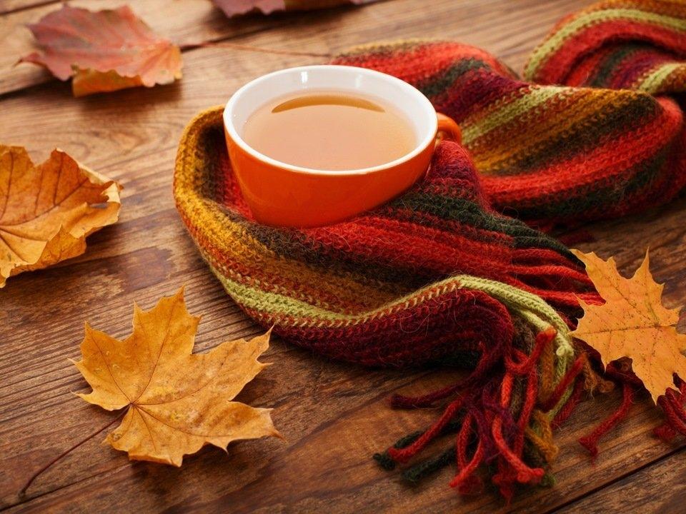 Осень чашка кофе фото   подборка 003