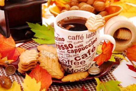 Осень чашка кофе фото   подборка 004