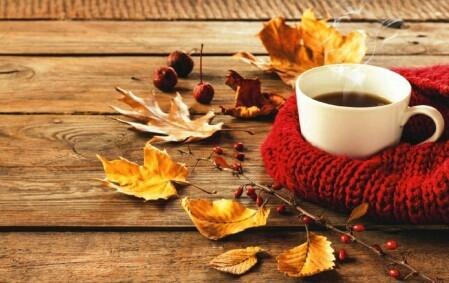 Осень чашка кофе фото   подборка 018