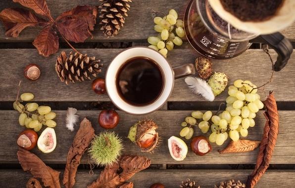 Осень чашка кофе фото   подборка 022