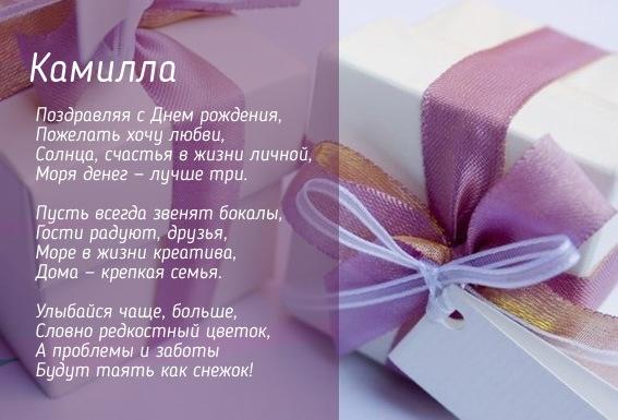 Открытка с Днем Рождения Камилла   подборка 004