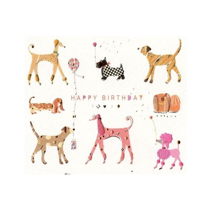 Открытка с Днем Рождения с собакой мужчине (41)