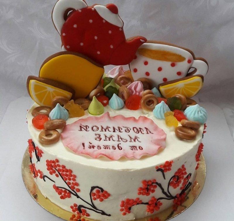 Оформление торта для мамы фото и картинки 006