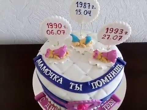 Оформление торта для мамы фото и картинки 008