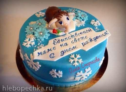 Оформление торта для мамы фото и картинки 009