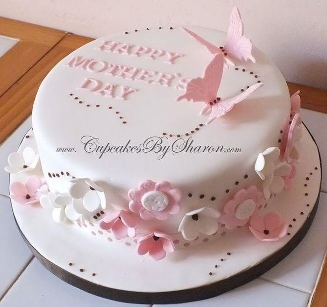 Оформление торта для мамы фото и картинки 012